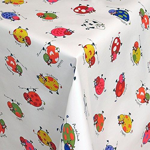 Wachstuch Tischdecke Gartentischdecke mit Fleecerücken Gartentischdecke, Pflegeleicht Schmutzabweisend Abwaschbar Bunte Kühe 120x 140 cm - Größe wählbar