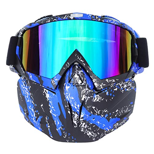 ZPEE Skibrillen Motorrad-Schutzbrille-Gläser Ski Lang Brille Motorrad Outdoor Sports Fahrradbrille Querfeldeinmotorradbrille Schneesportbrille (Color : D)