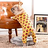 RTEAQ Ropa Mascotas Mono para Perro Mascota Mono de algodón para Cachorros para Perros pequeños Grandes Bulldog Pomerania Primavera/Otoño Pijamas para Perros Monos Ropa