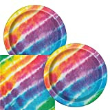 Tie Dye Themed Birthday Party Plates and Napkins (Serves 16)