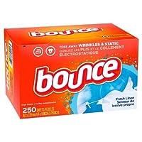 Bounce Fresh Linen Dryer Sheets - 250ct/ バウンス ファブリックソフトナー ドライシート フレッシュリネン 250枚入り [並行輸入品]