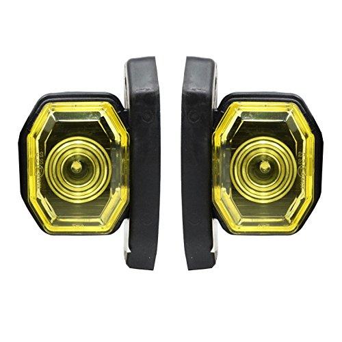 2 x 24V LED Begrenzungsleuchten Seitenmarkierungsleuchten E Mark Hochwertig Positionsleuchten Rot Weiß LKW Anhänger Bus Wohnmobil