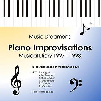 Piano Improvisations Musical Diary 1997 - 1998