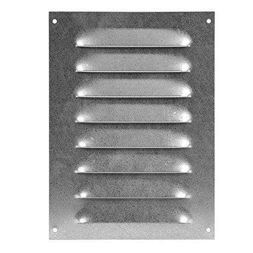 140x190mm Verzinkt Lüftungsgitter Abschlussgitter mit Insektenschutz Abluft Zuluft Metall Gitter