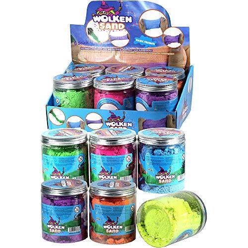 Wolkensand | Bunte Basicfarben | 1 Glas a 150 gr. | formbar wie Sand dehnbar wie Kaugummi, kreativer Spielspass