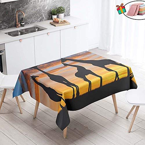 Morbuy Nappe Anti Tache Rectangulaire,Imperméable Étanche à l'Huile 3D Imprimé Carrée Couverture de Table Lavable pour Ménage Cuisine Jardin Picnic Exterieur (Jaune Lever De Soleil,90x90cm)