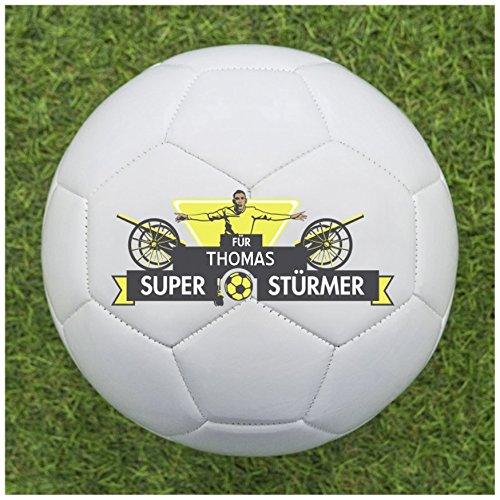 Balleristo Fußball als Geschenk Personalisieren [Superstürmer] - Fußball selbst gestalten und mit eigenem Text oder Namen Bedrucken Lassen