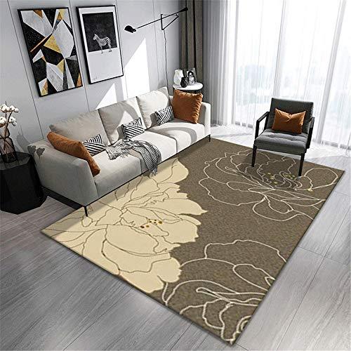 AU-SHTANG Bases Antideslizantes para alfombras Alfombra Beige con Mecanismo antiácaros Simple gateando para bebés alfombras pie de Cama -Blanco Crema_El 180x280cm