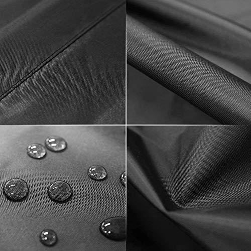 MVPower Abdeckung Schutzhülle Abdeckplane Abdeckhaube für Gartenmöbel und für rechteckige Sitzgarnituren, Gartentische und Möbelsets (300 * 250 * 90cm) - 6