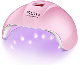 MAYCREATE® UV LED Nail Lamp 24W with Infrared Sensor,UV Nail Light Quick Dry Machine, 30s/60s/90s Timer for Curing LED Gel Nail Polish, Pink LED Nail Dryer Curing Light for Salon and at Home