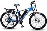 RDJM Bici electrica Bicicletas eléctricas for adultos, todo terreno Bicicletas de aleación de magnesio, 26' bicicletas de 36V 350W 13Ah de iones de litio de la batería portátil adulto de sexo masculin