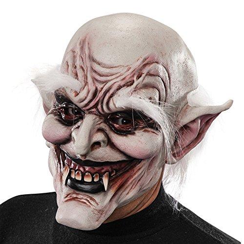 Carnival Toys - Máscara de látex vampiro con cejas y pelo