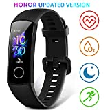 Honor Band 5 Fitness Tracker, Monitoraggio SpO2, Battito Cardiaco 24/7 e Sonno, Display Touch AMOLED...