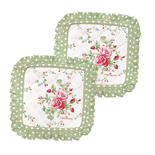 GreenGate Pot Holder Mary White Set of 2pcs