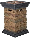 Peaktop HF29402A Square Column Propane Gas Fire Pit Outdoor...