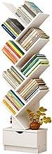 Vobajf Estanterías 9-Tier Bookcase Storage Shelves Organizador de Almacenamiento de Libros, Libros/CD/álbumes/Soporte de Archivos Librero Grande (Color : Walnut, Size : 148x37x18cm)