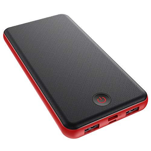 Kilponen Powerbank USB C 26800mAh, 18W Power Delivery & Quick Charge 3.0 Externer Akku Schnellladung Power Bank PD mit 3-Port Output Hohe Kapazität Akku Pack für Handy, Tablets und mehr - Rot