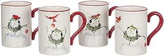 Sullivans PN2329 Cynthia Dunn Winter Snowman, Boxed Gift Set Decorative Ceramic Christmas Mugs, Set of 4, 5.25