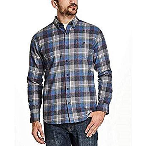 Weatherproof Vintage Mens Flannel Shirt (Royal Plad, 3XL)