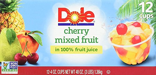 Dole Fruit Bowls Peaches Mandarin Oranges and Cherry Mixed Fruit 4 Ounce 12 Count