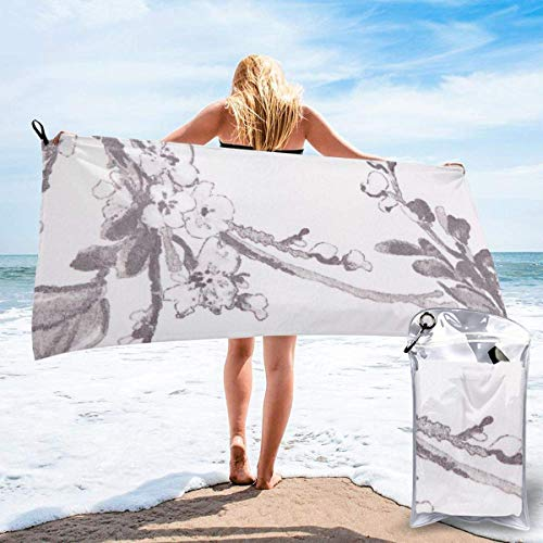 shenguang Floral Graphite Printed Travel Quick Dry Bath Towels Sports Gym Microfiber Beach Towels Camping Swimming Compact Towel
