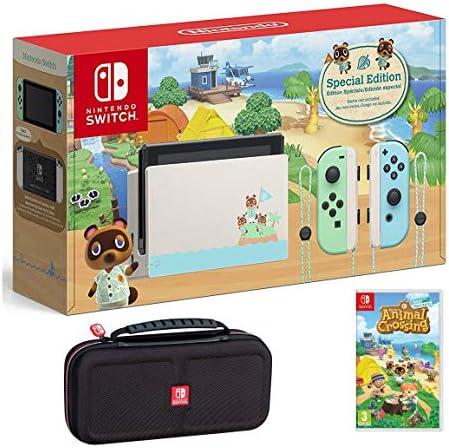Nintendo Switch Bundle w Game Case Nintendo Switch Animal Crossing New Horizons Edition 32GB product image