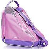 Ventcy bolsa para patines, bolsa patines adulto, bolsa patines ruedas, bolsa patines línea para nina, bolsa patines 4 ruedas hasta el tamaño 43 (eu) violeta-luzpúrpura