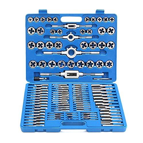 Froadp 110tlg Gewindeschneider Gewindeschneidsatz Gewindeschneid Satz Gewinde Schneider Bohrer Werkzeug Set(110 teilig)