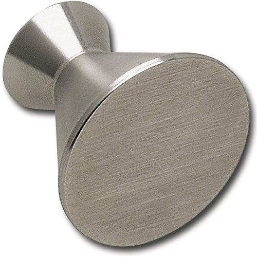 Bouton de porte ø 28 mm, profondeur 25 mm, brossé stainless acier