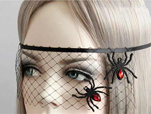 Dlorvogueveil Masquerade Party Spider Princess Masker Cover Half Gezicht Leuk Oogmasker Sluier Accessoires