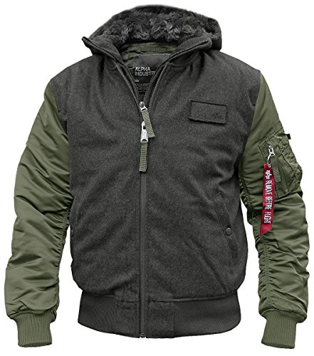 ALPHA INDUSTRIES MA1 D-Tec Wool Fliegerjacke Oliv - XL