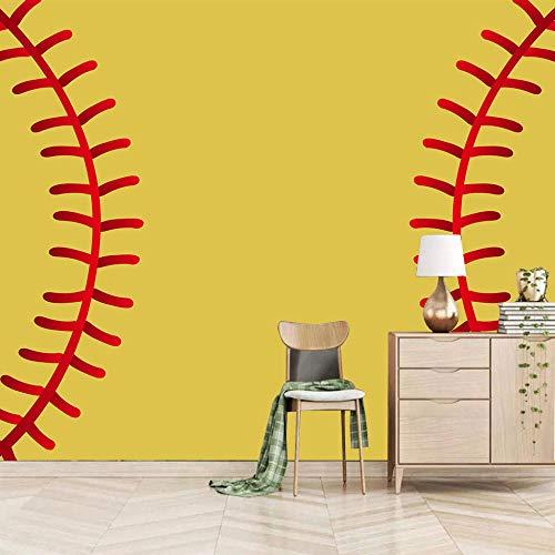 3d Fototapete Wandbild Baseball Wandbild Fototapete Poster Tapete 3D Vlies Panorama Bilder Dekoration Tapete 350CMx256CM