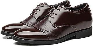 [ダキシ] インヒール 身長が高くなる 6CMヒール ビジネスシューズ メンズ紳士靴 本革 革靴 プレーントゥ 通気性抜群 フォーマル クラッシック レースアップ ウォーキング ポインテッドトゥ仕事履きオールシーズン