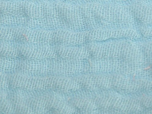 Minerva Crafts Baumwoll-Mullstoff, geknittert, Meterware, Aquamarin