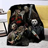 Kiki Aces Blankets Michael-Myer-s Horror Halloween Flannel Fleece Plush Anti-Pilling Cozy Bed Throws for Home - Large 80x60 Inches