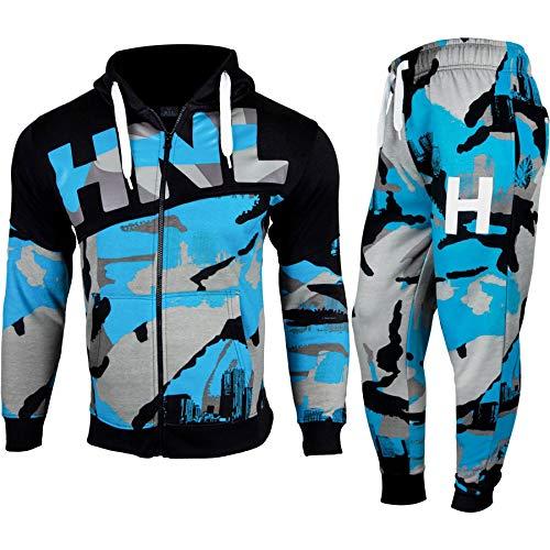 A2Z 4 Kids® Enfants Garçon Survêtement Bleu Imprimer - T.S HNL Blue_13