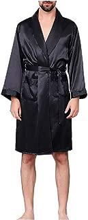Men Lounge Sleepwear Faux Silk Nightwear for Men Comfort Silky Bathrobes Noble Dressing Gown Men's Sleep Robes