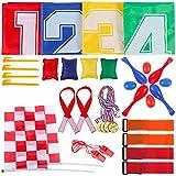 GOLDGE Kinderparty Set Kindergeburtstag Spiele -32 teilig Fun Party für Kinder,4 Sackhüpfen...