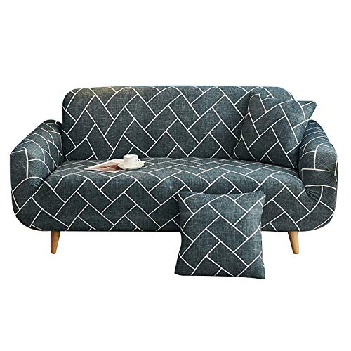 Crafttable Printed Sofa Slipcover, Polyester Spandex 1-Piece Sofa Cover High Stretch Furniture Protector Couch Slipcover, Chair-1 Seater, 03