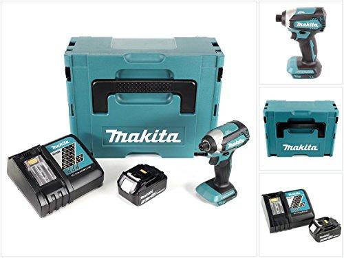 Makita DTD 153 RF1J - Trapano avvitatore a percussione con batteria da 18 V e batteria agli ioni di litio BL 1830 da 3,0 Ah + caricatore DC 18 RC