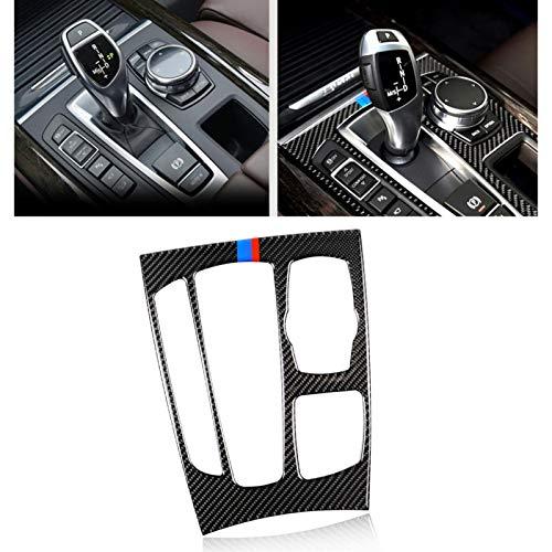 Piezas de Coches para BMW F15 F16 X5 X6 2015 2016 2017 2018 LHD Engranaje del Coche Car Styling Shift Cubierta Auto Panel Revestimiento Cubierta Fibra De Carbono Real Etiqueta Decoración