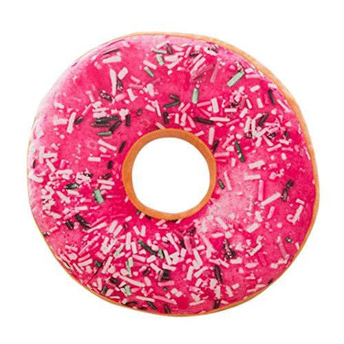 Almohada de felpa suave cojín de asiento relleno de alimentos dulces Donuts funda de cojín juguetes By LMMVP (40cm, E)