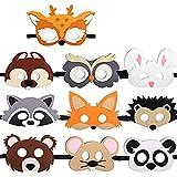 Sunshine smile Máscaras de Fieltro,Cuerda Elástica Máscaras,Máscara de Cosplay para Niños,Fiesta de Cumpleaños Máscara,mascaras Animales (B)