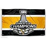 WinCraft Pittsburgh Penguins 2016 Stanley Cup Champs NHL Hissfahne (150x90) -