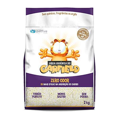 Areia Higiênica do Garfield Zero Odor, Grossa, Biodegradável 2 kg