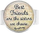 Bague d'amitié réglable Best Friends are The Sisters We Choose