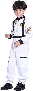 Kobay- Jungen Kobay Kids Boy Jumpsuit Rollenspiel Astronaut Spaceman Cosplay Flight Spacesuit Kostüm Astronaut Pilot Spacesuit für Jugendliche mit Jumpsuit