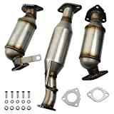 MAYASAF 3 Pcs Catalytic Converter Exhaust Pipe for 2009-17 Chevy Traverse/07-17 GMC Acadia...
