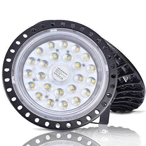 UFO - Lámpara industrial LED, UFO LED, 6000-6500 K, luz blanca fría,...