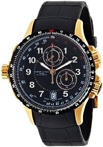 Hamilton Men's H77642333 Khaki ETO Black Chronograph Dial Watch